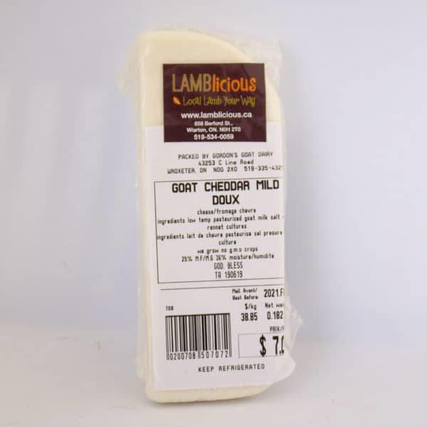 Goat Cheddar Mild Cheese - Lamblicious